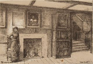 Interior of Upminster Hall, 1880.