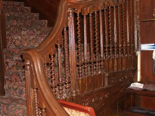 Surviving staircase, Upminster Hall, 2009
