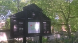 Entrance to Bunhill Fields, from Bunhill Row