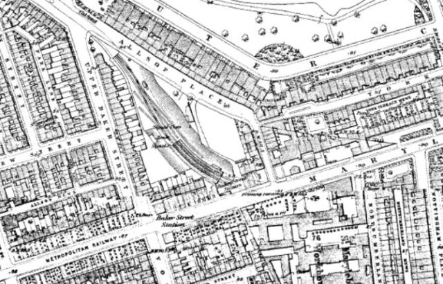 Map Allsop Place 1870s