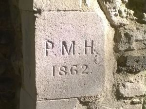 PM Holden initials NW Corner St Laurence Church