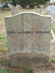 Gravestone of Sybil & Sidney Wedlake, Worthing
