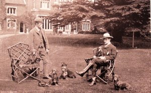 E S Woodiwiss and Dachsunds, 1896
