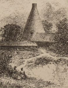 Kiln at Upminster Brickworks, 1880