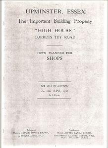 Sale Catalogue cover 1935