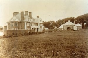 Upminster Court, around 1906, with building works close to completion