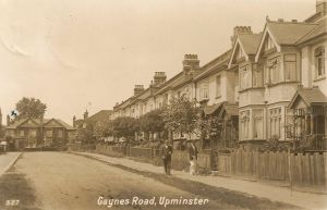 Belgian refugees were housed in Gaynes Road