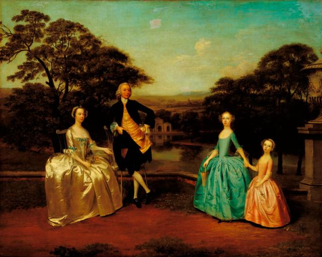 Robert & Mary James and daughters Elizabeth & Ann