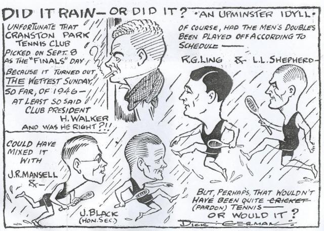 Dick German cartoon 1946
