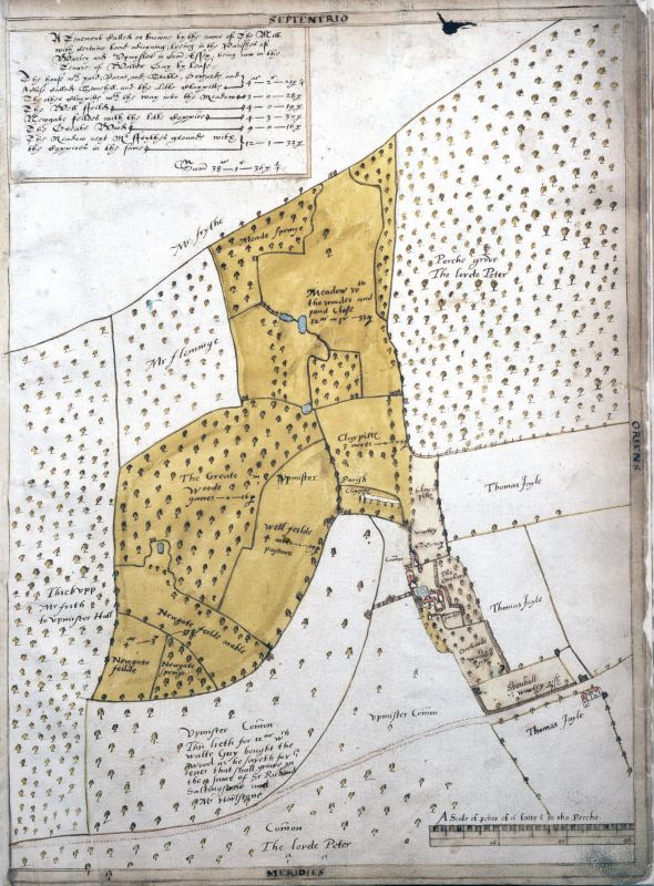 Treswell Plan Book 1612 CL_G_7_1 f38r Upminster and Warley v2
