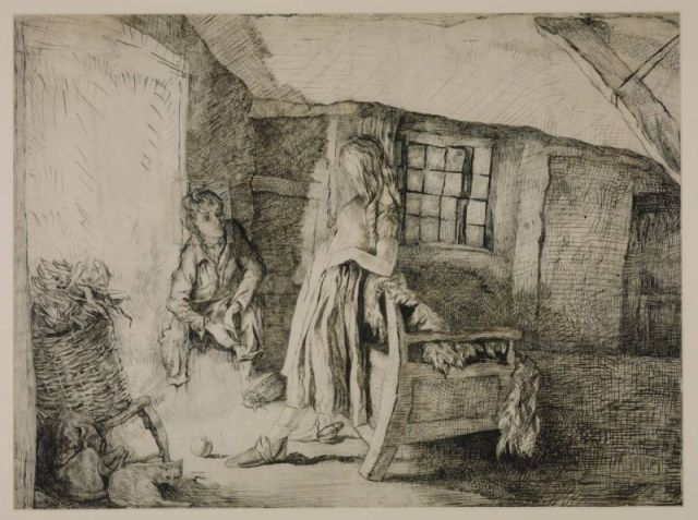 Catherine Earnshaw and Heathcliffe at Wuthering Heights circa 1910-11 by Lady Edna Clarke Hall 1879-1979
